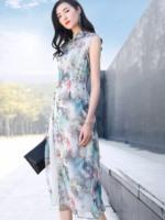 民族服装 旗袍连衣裙 品牌折扣女装尾货批发